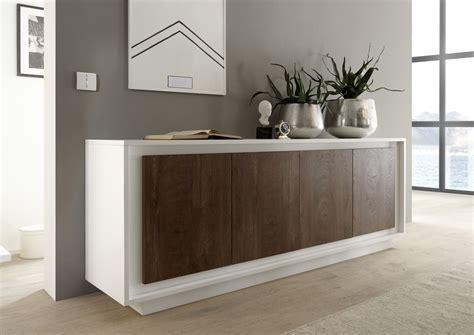 Display Sideboard by Four Door Sideboard Matt White Cognac Sideboards