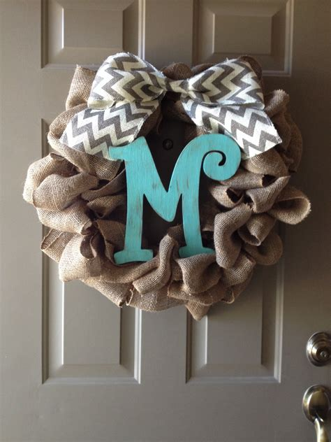 diy burlap wreath  monogram letter burlap wreath diy diy burlap burlap wreath