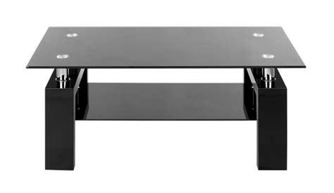cuisine festive table basse laquee noir et verre noir table