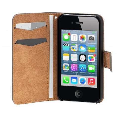 housse i phone 5s housse iphone 5 s folio velvet grise
