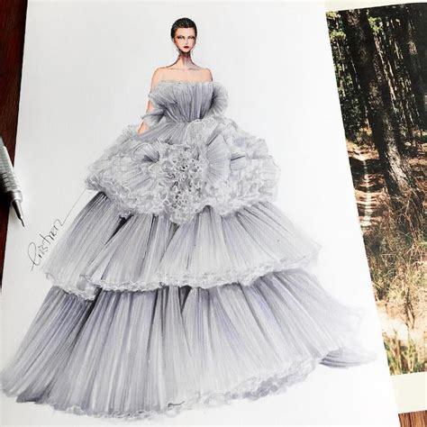 Fashion Design Gown Designs By Eris Showcase Fashion Illustrators Skill