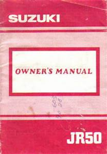 Suzuki Jr50 Owners Manual 1991 Jr50m