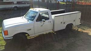 1990 F350 Ford Truck With 7 3l Diesel Engine With Utility Bed