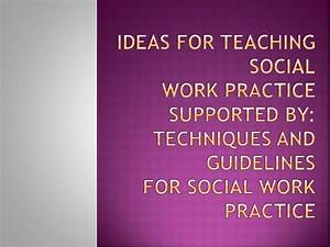 social work; teaching ideas