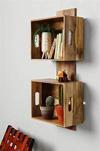 Caisse Bois Deco : 1001 id es et tutos pour fabriquer un meuble en cagette charmant ~ Teatrodelosmanantiales.com Idées de Décoration