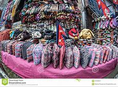Nepali National Hats At Market Stock Photo Image 44358057