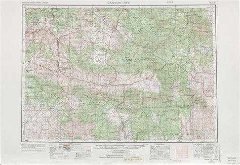 canyon city topographic maps  usgs topo quad