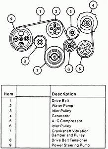 2007 Ford Fusion Serpentine Belt Diagram