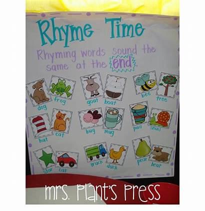 Rhyming Anchor Kindergarten Activities Busy Words Charts