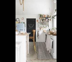 ide carrelage cuisine salon industriel scandinave 11 With idee deco cuisine avec pinterest deco cuisine