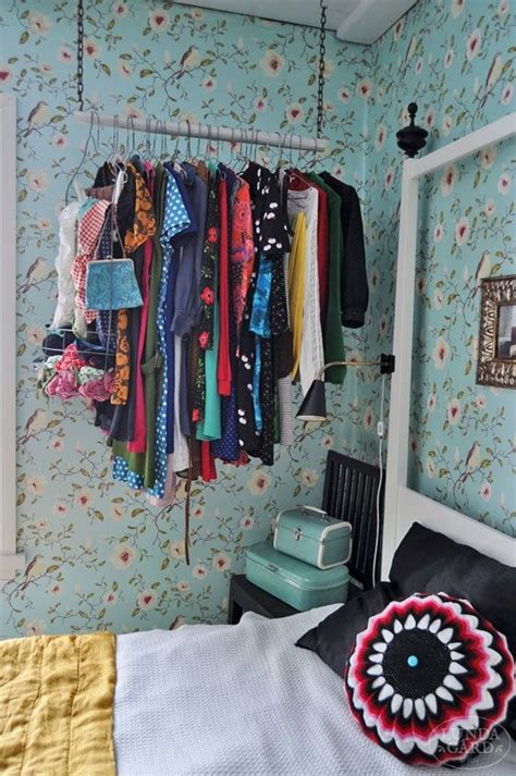 inspiring makeshift closet designs  small spaces