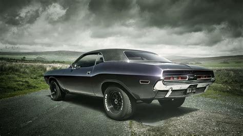 Dodge Challenger Muscle Cars 4k Widescreen Wallpaper