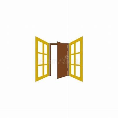 Window Frame Icon Door Facade Concept Simple