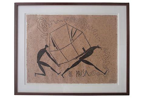 lithograph  cuban american artist jose bedia valdes
