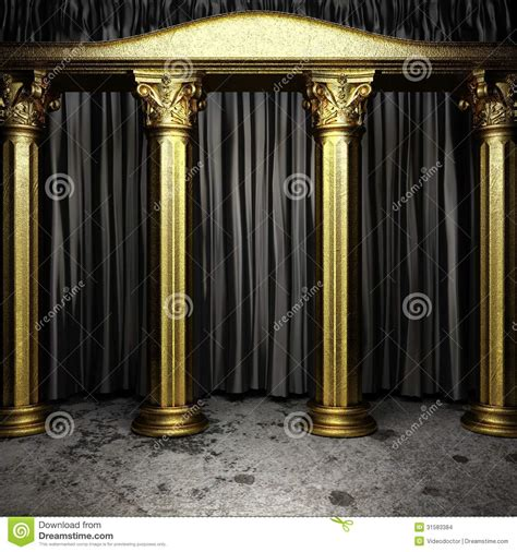 black fabric curtain on stage stock images image 31583384