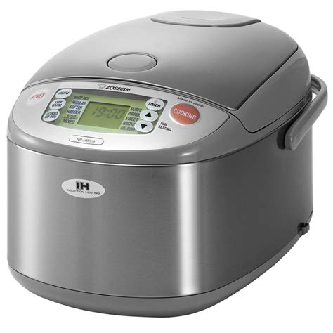 zojirushi stainless steel induction heating system rice cooker warmer  cup cutlery
