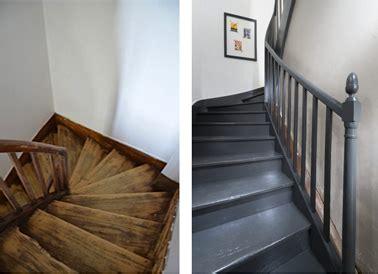 decaper un escalier peint peindre un escalier en bois avec la peinture r 233 novation v33