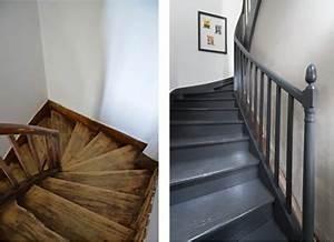 Peindre Escalier En Bois : peindre un escalier en bois avec la peinture r novation v33 ~ Dailycaller-alerts.com Idées de Décoration