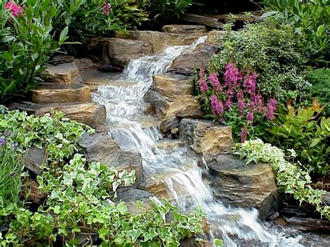 Garten Bachlauf Mit Wasserfall  Nowaday Garden