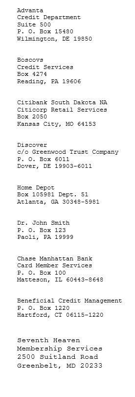 credit matrix requirement eastern district