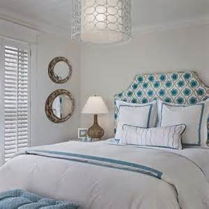 White and Turquoise Bedding