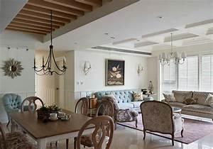 Elegant American country style living room design2