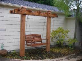 free standing front yard swing arbor swing ideas