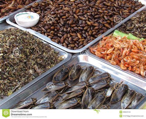 cuisine insectes comestibles insectes pour manger pattaya thaïlande photo stock image