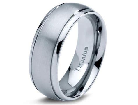 Titanium Wedding Band, Men Titanium Rings, Mens Wedding
