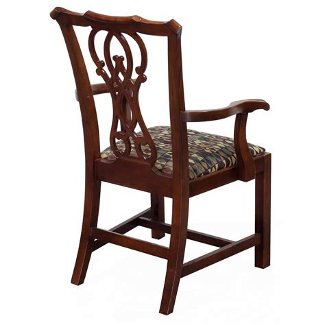 bernhardt eaton square used wooden arm chair cherry