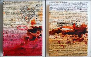 Make an art decor from old book pages Craft projects for