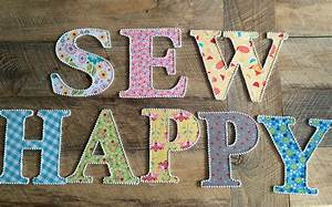 fabric covered letters With fabric letter cutter