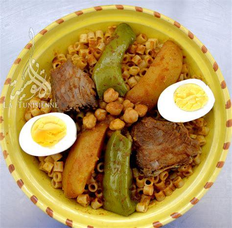 cuisine tunisienne poisson pâtes tunisiennes au poisson maqrouna salsa bel hout