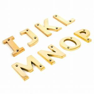 polished brass letters house numbers With brass house letters