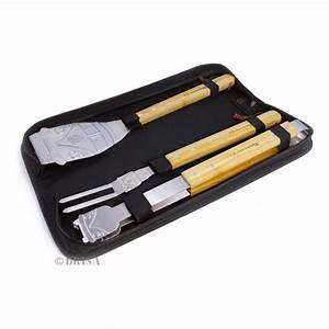 Ustensiles Pour Barbecue : ustensiles pour barbecue inox retro design ~ Premium-room.com Idées de Décoration