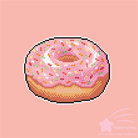 There are two types of brushes: Pixel Donut by theskywaker on DeviantArt