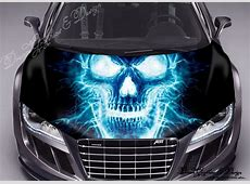 Abstract Skull Full Color Graphics Adhesive Vinyl Sticker