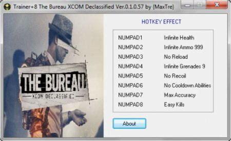the bureau trainer the bureau xcom declassified trainer 4 v2 20 2016