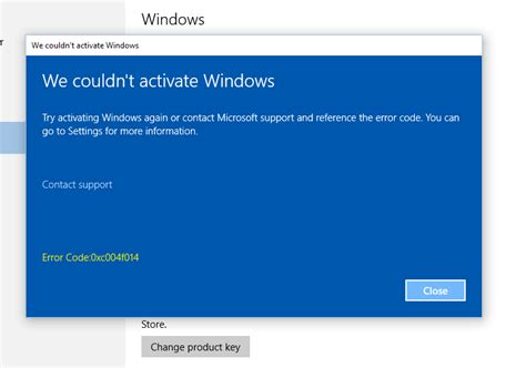 error code 0xc004f014 and quot we couldn t activate windows