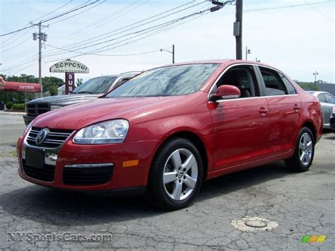 volkswagen jetta se sedan  salsa red