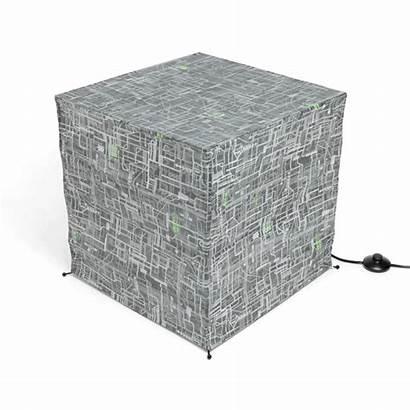 Borg Cube Floor Giant Lantern Paper Standing