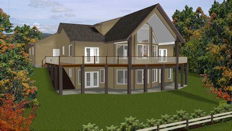 sloping lot house plans hillside home plans with basement sloping lot house plans