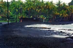 Black Sand Beaches Big Island Hawaii