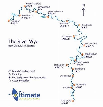 Wye River Canoeing Canoe Kayaking Trips Map
