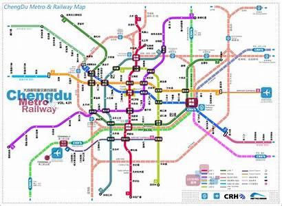 Map Chengdu Subway Metro China Maps Lines