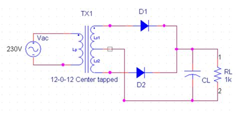Circuit Diagram Of Full Wave Rectifier And Its Working