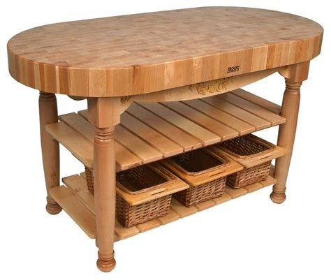 Country Kitchen Work Table W Butcher Block To