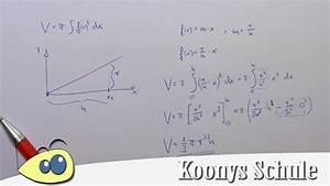 Integration Berechnen : formel f r kegel mit rotationsvolumen herleiten rotationsk rper integralrechnung youtube ~ Themetempest.com Abrechnung