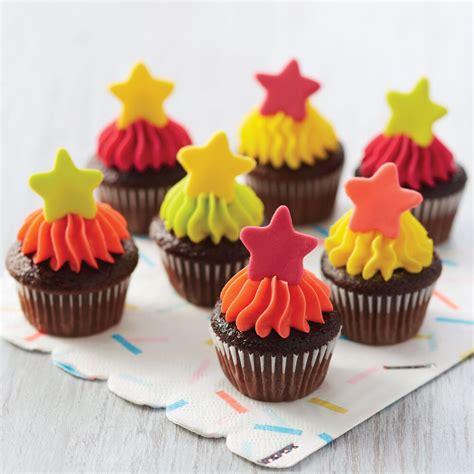 stars mini cupcakes wilton