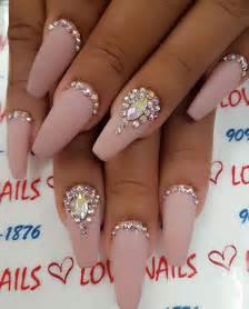 Nails on swarovski wedding toe and pink bling